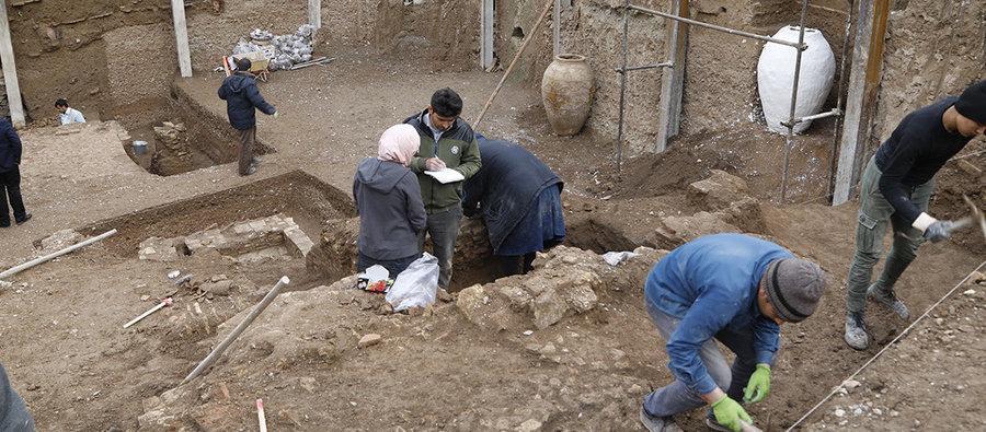 حمام و فاضلاب شهری دوره سلجوقی از زیر خاک شهر ری بیرون آمدند