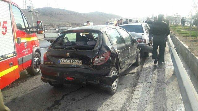 تصادف زنجیره ای در جاده تبریز -آذر شهر