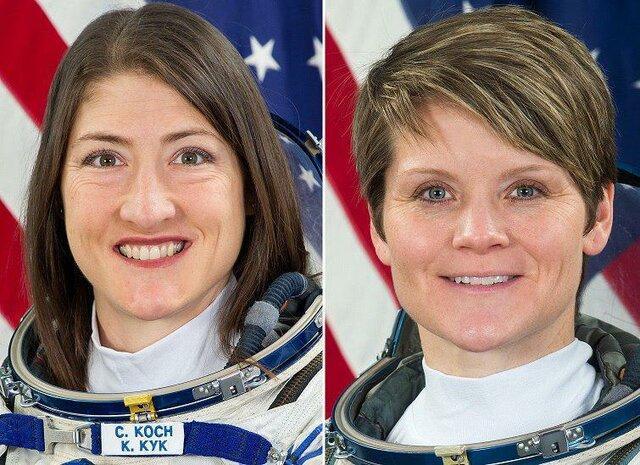 2 فضانورد زن در روز 29 مارس در فضا راهپیمایی خواهند کرد