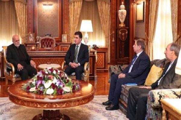 دیدار سفیر ایران در عراق با نچیروان بارزانی
