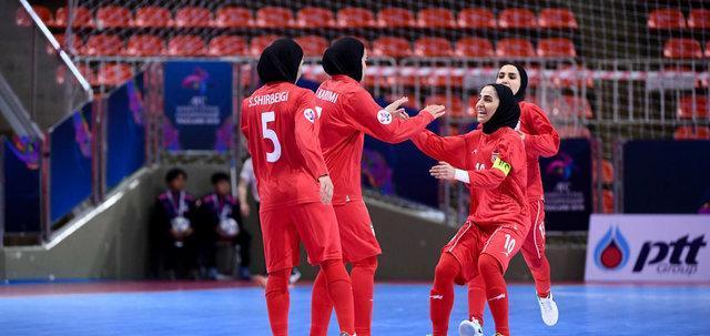 بانوان فوتسال ایران برابر چین به پیروزی رسیدند، یک گام دیگر تا فینال