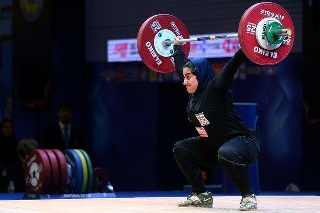 دومین دختر وزنه بردار ایران در قطر هفتم شد