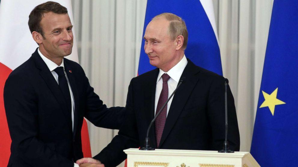 لیبی و سوریه محور تبادل نظر های روسای جمهور فرانسه و روسیه