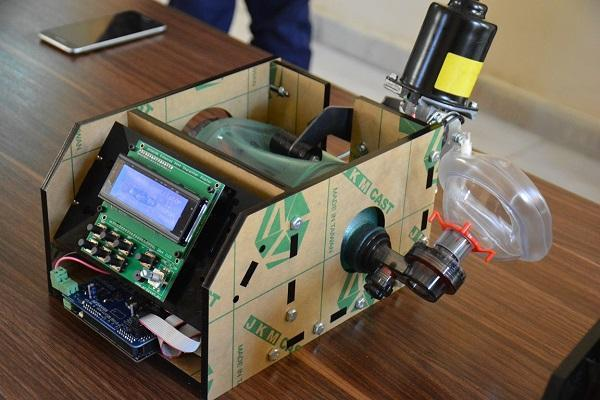 نمونه آزمایشگاهی دستگاه تنفس مصنوعی ventilator در دانشگاه شهید چمران اهواز ساخته شد