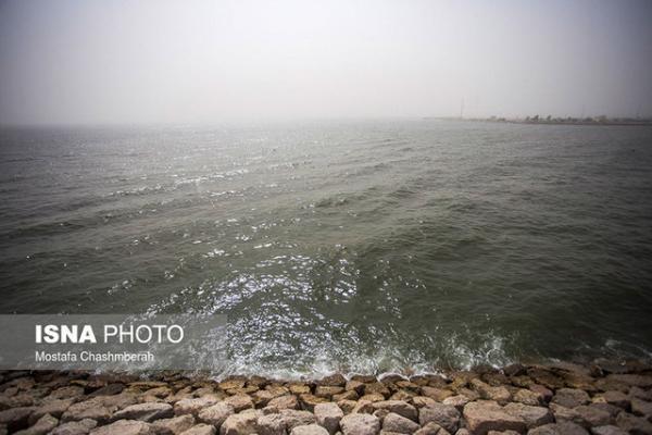 شدت باد در جزایر غربی هرمزگان به 40 کیلومتر می رسد